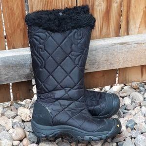 Keen waterproof winter snow boots black sz 5